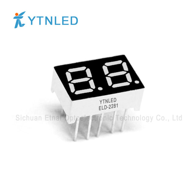 0.28inch Dual digit led display Common Cathode Anode Red Oran