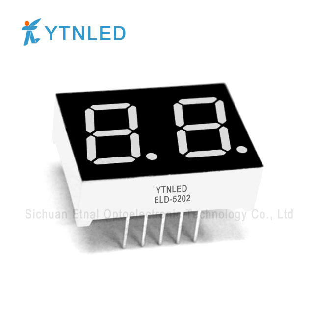 0.5inch Dual digit led display Common Cathode Anode Red Orang