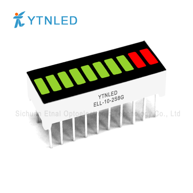10 segment Light bar led display Red Orange Yellow Green Emer