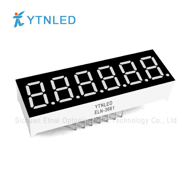 0.36inch Six digit led display Common Cathode Anode Red Orang