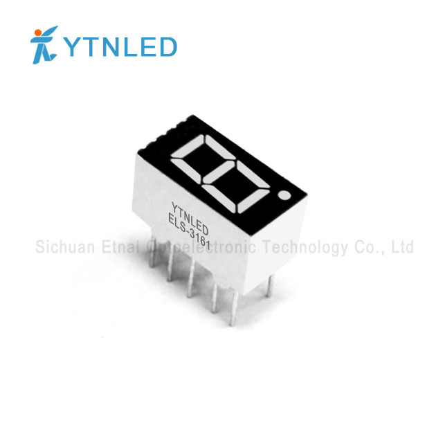 0.36inch Single digit led display Common Cathode Anode Red Or
