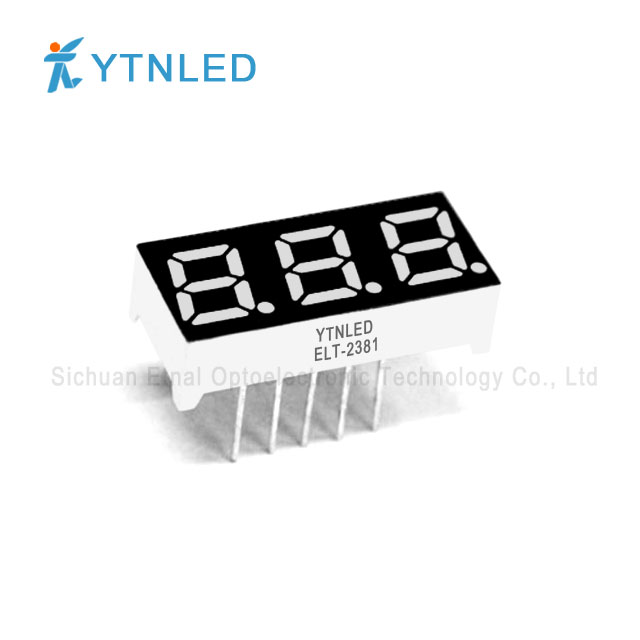 0.28inch Three digit led display Common Cathode Anode Red Ora