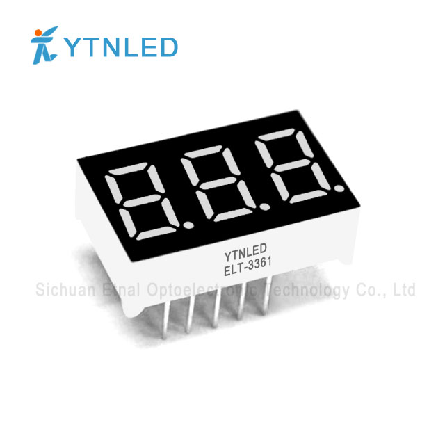 0.36inch Three digit led display Common Cathode Anode Red Ora