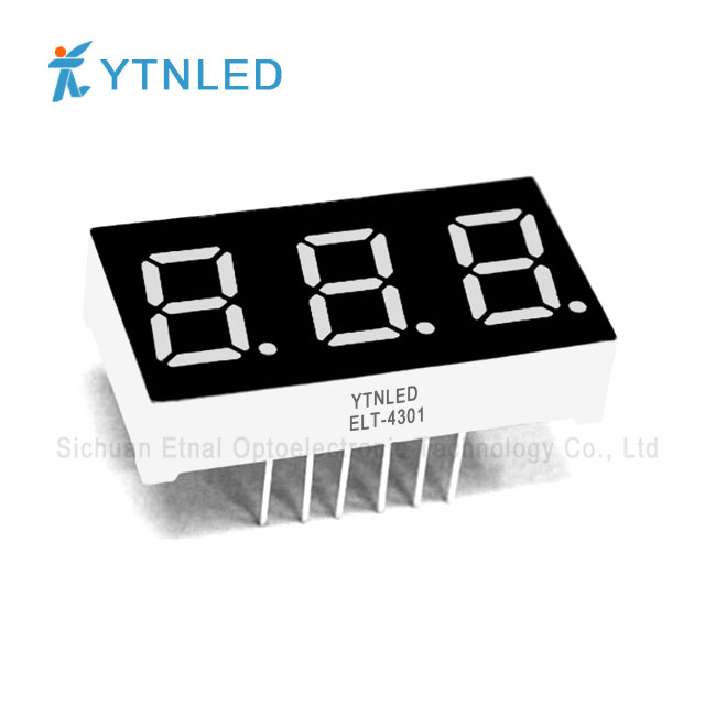 0.4inch Three digit led display Common Cathode Anode Red Oran