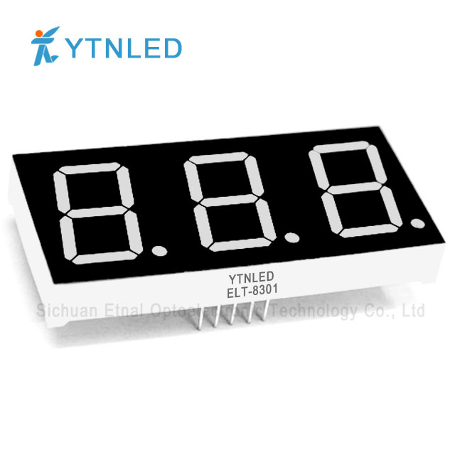 0.8inch Three digit led display Common Cathode Anode Red Oran