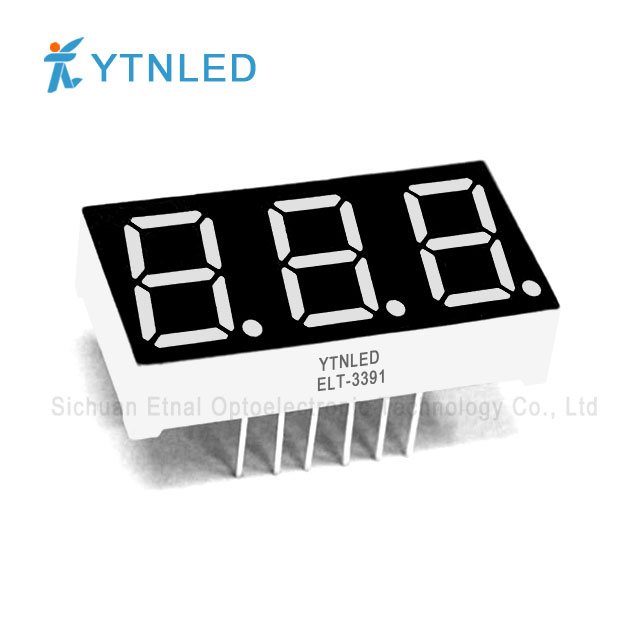 0.39inch Three digit led display Common Cathode Anode Red Ora
